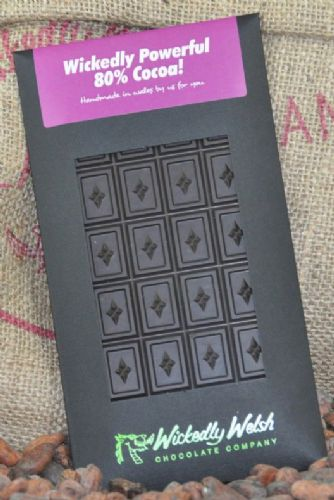 Wickedly Welsh Chocolate Bar - 80% Cocoa
